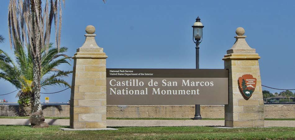 Castillo de San Marcos National Parks Sign