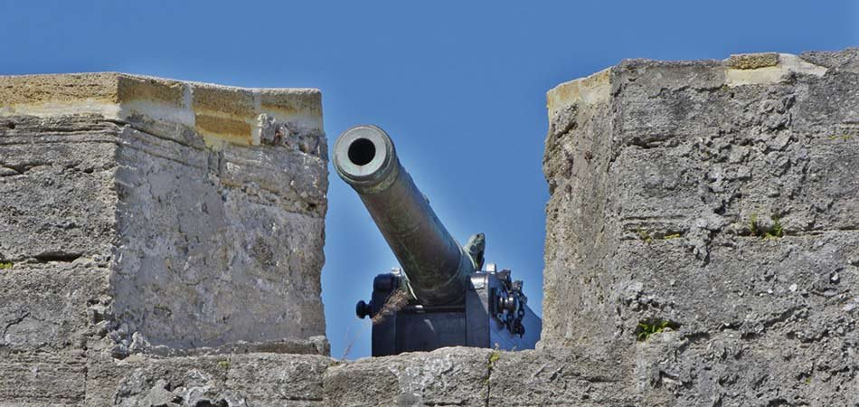Cannon atop of fort Castillo Saint Marko