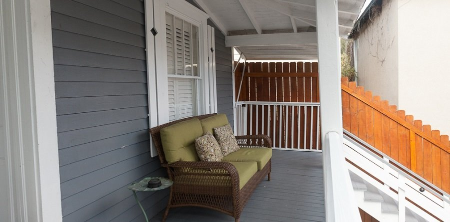 Room 5 covered porch with seating